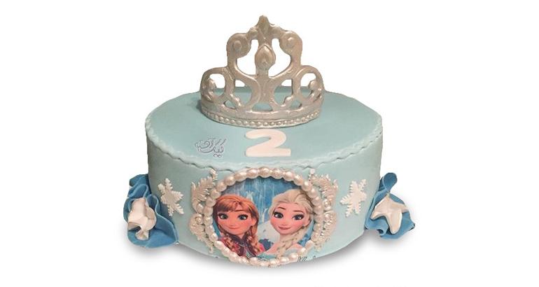 کیک کارتونی تولد السا و انا