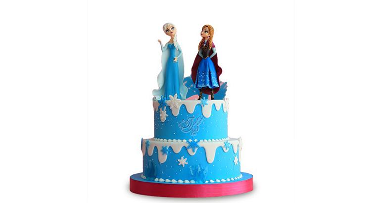 کیک دخترانه السا و آنا