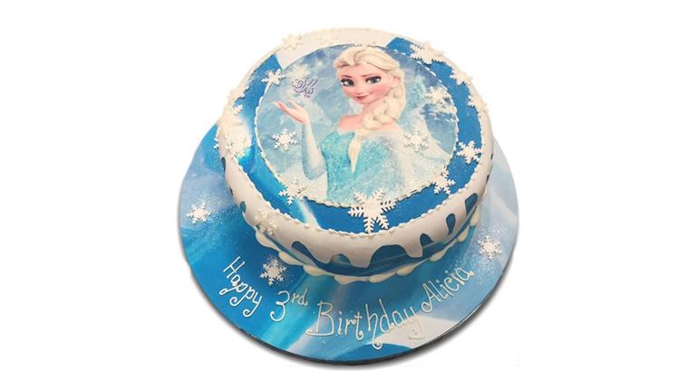 کیک چاپی السا و آنا