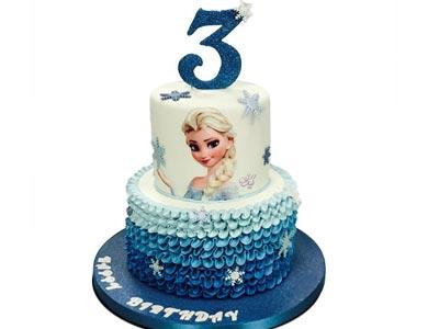 کیک با تم السا آنا | کیک آف