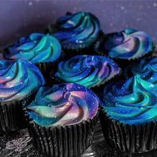 کاپ کیک های کهکشانی | کیک آف