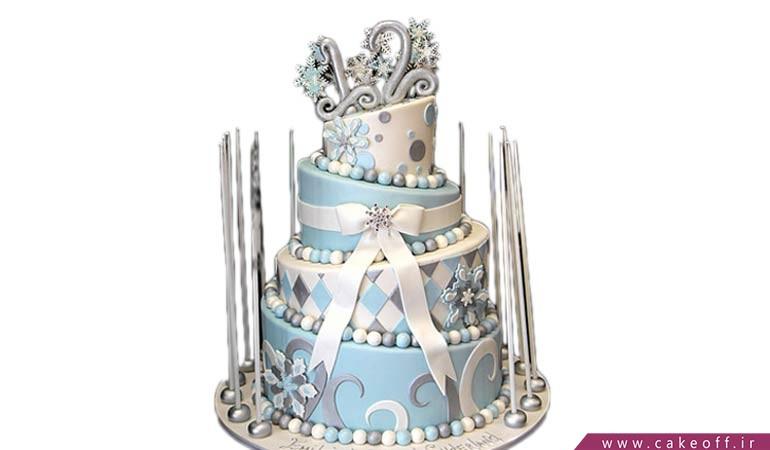 کیک تولد زمستانی
