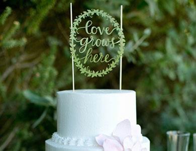 تاپرهای عاشقانه برای کیک عقد و عروسی | کیک آف