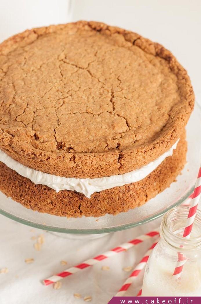 کیک خامه ای بلغور جو