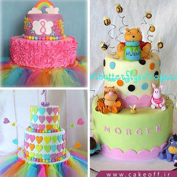 کیک فوندانت،کیک تولد دخترانه