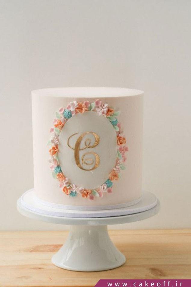 کیک تولد طلایی