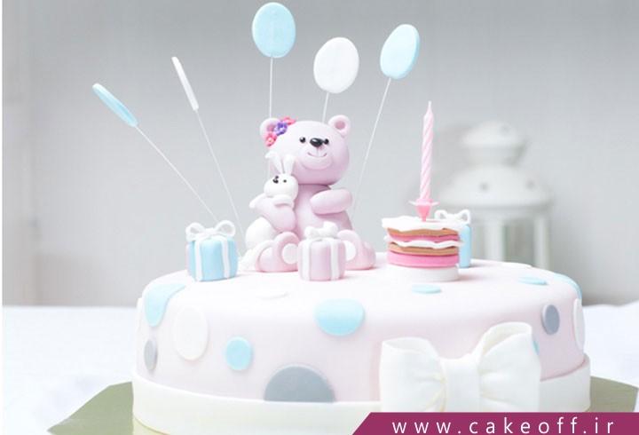 کیک تولد تدی خرسه