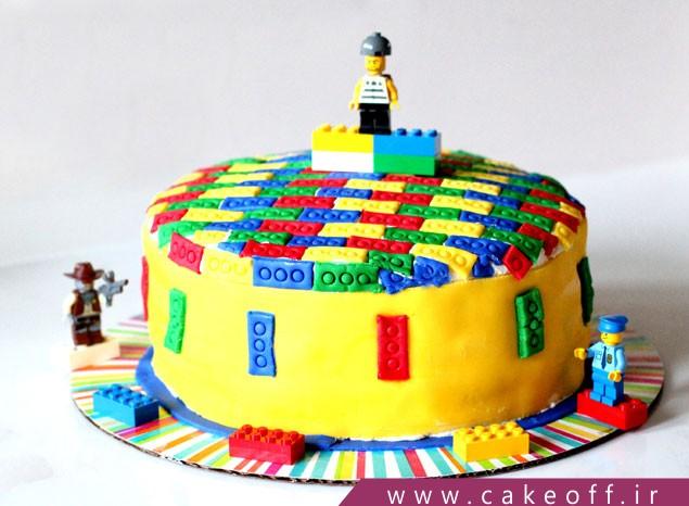 کیک تولد لگو