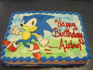 کیک تولد بچه گانه: تم سونیک شخصیت دوست داشتنی