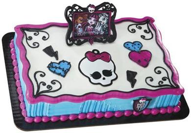 کیک تولد دخترانه: کیک هایی از کارتون مانسترهای!