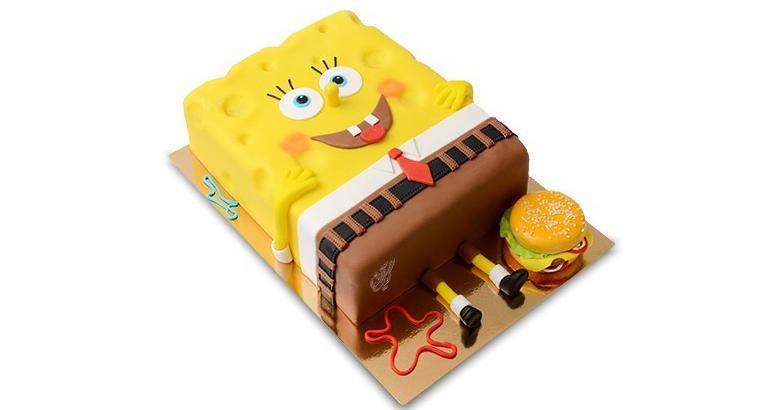 کیک زیبای باب اسفنجی