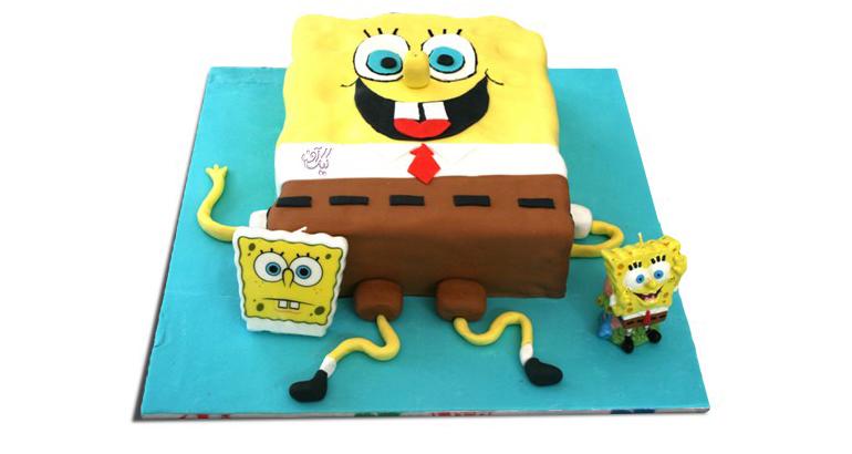 کیک فوندانتی باب اسفنجی
