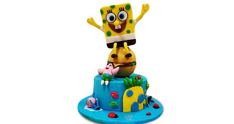 کیک تولد ضد جاذبه باب اسفنجی