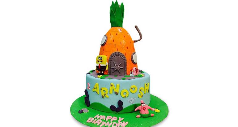کیک تولد دخترانه باب اسفنجی