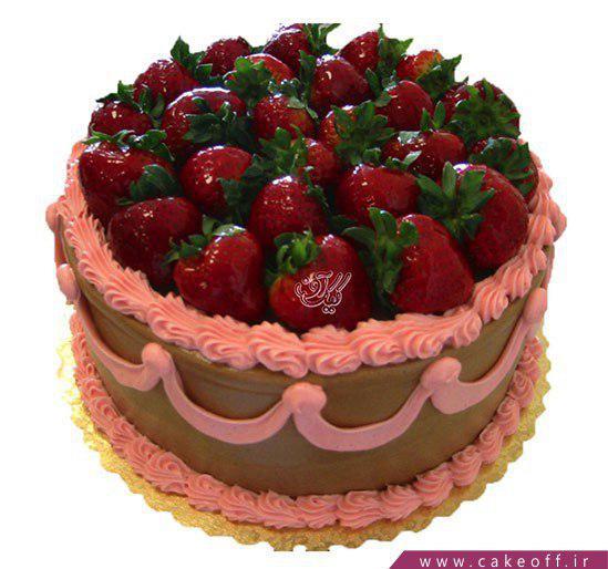 کیک شکلاتی میوه ای