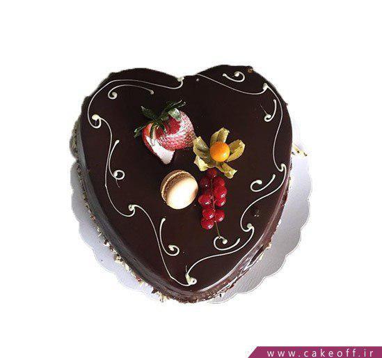 کیک قلب شکلاتی