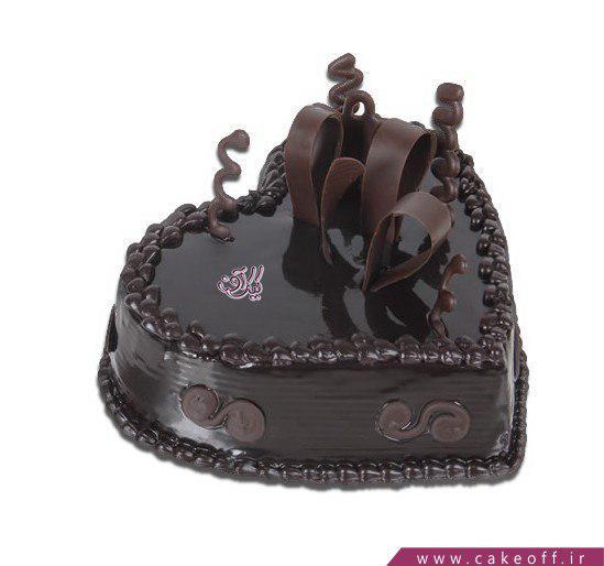 کیک شکلاتی قلب