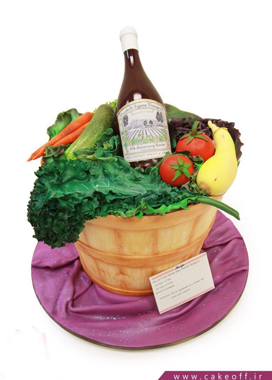 کیک سبزیجات باغی