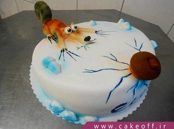 کیک کارتونی عصر یخبندان