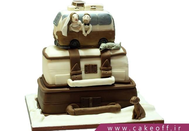 کیک کیف و چمدان