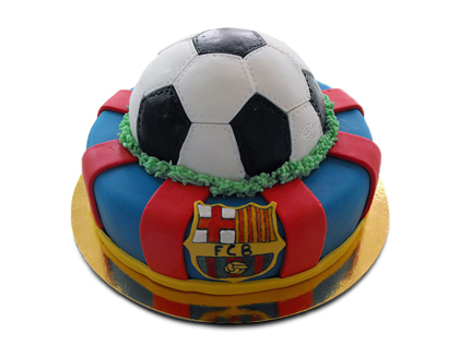 کیک تولد فوتبالی بارسلونای قهرمان | کیک آف