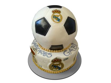 کیک تولد پسرانه - کیک فوتبالی رئال مادرید 1 | کیک آف