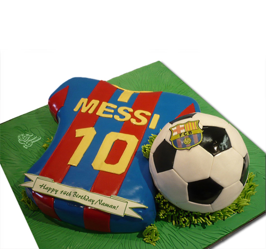 کیک تولد پسرانه-کیک تولد فوتبالی مسی | کیک آف