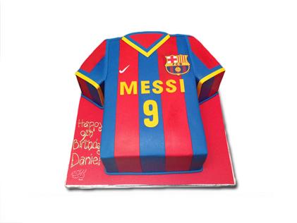 کیک تولد پسرانه - کیک تولد فوتبالی مسی 2 | کیک آف