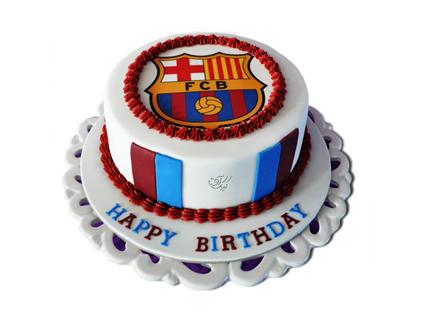کیک تولد پسرانه - کیک تولد فوتبالی بارسلونا 5 | کیک آف