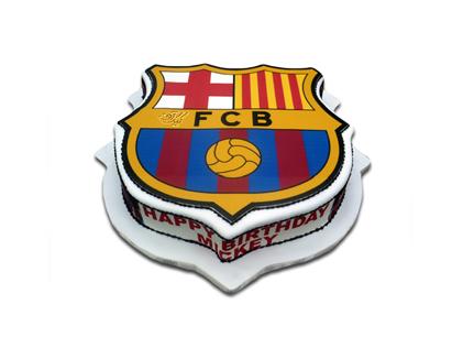 کیک تولد پسرانه - کیک تولد فوتبالی پرچم بارسلونا 2 | کیک آف