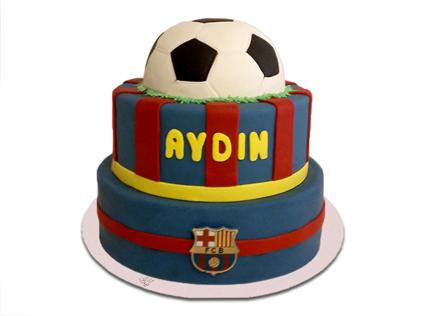 کیک تولد پسرانه - کیک تولد فوتبالی بارسلونا 6 | کیک آف