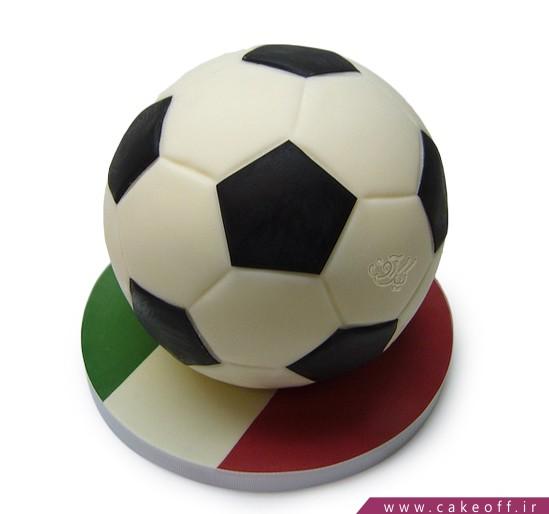 کیک فوتبالی تیم ایتالیا