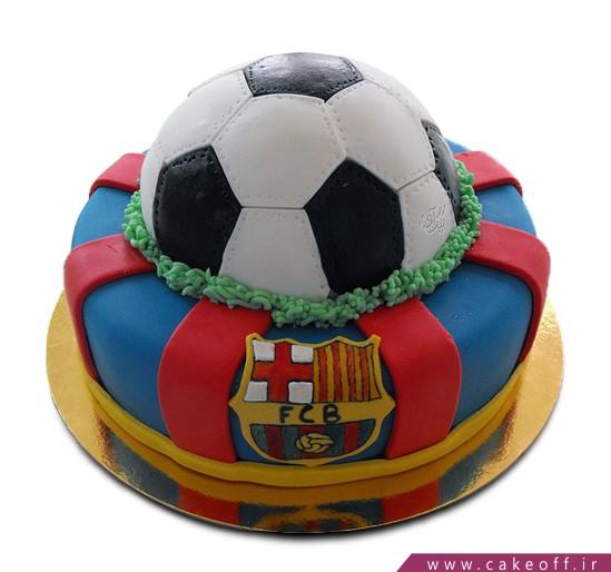 کیک تولد فوتبالی بارسلونای قهرمان