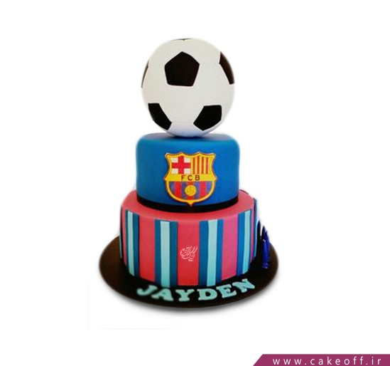 کیک تولد فوتبالی بارسلونا 3