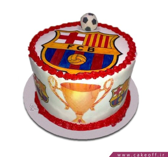 کیک تولد کاپ قهرمانی بارسلونا