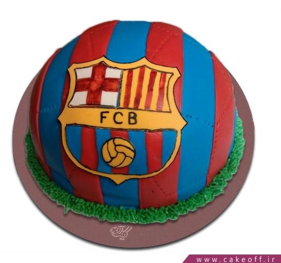 کیک تولد فوتبالی بارسلونا 4