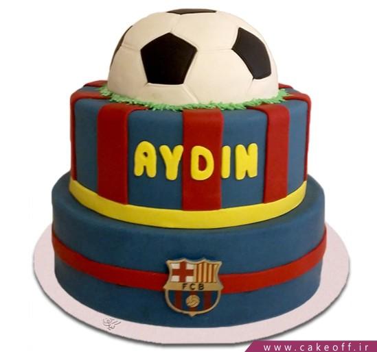 کیک تولد فوتبالی بارسلونا 6