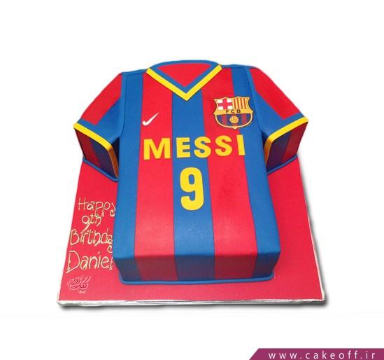 کیک تولد پسرانه-کیک تولد فوتبالی مسی 2 | کیک آف