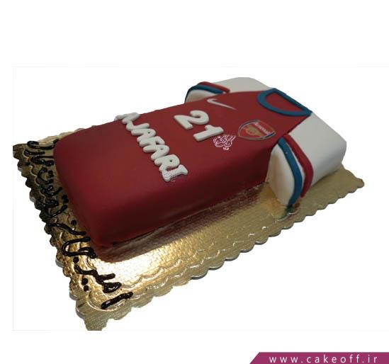 کیک تولد ورزشی - کیک پیراهن آرسنال | کیک آف