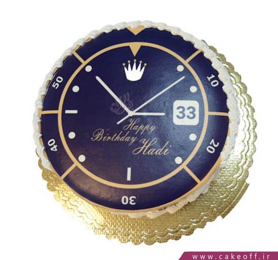 کیک تصویری - کیک ساعت - کیک وقت طلاست | کیک آف