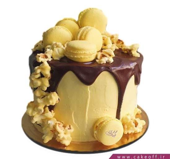 سفارش کیک آنلاین - کیک تولد آبشار طلایی   کیک آف