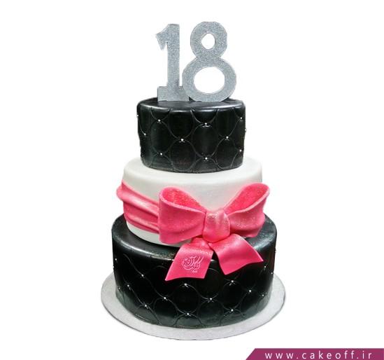 کیک تولد سیاه و سفید