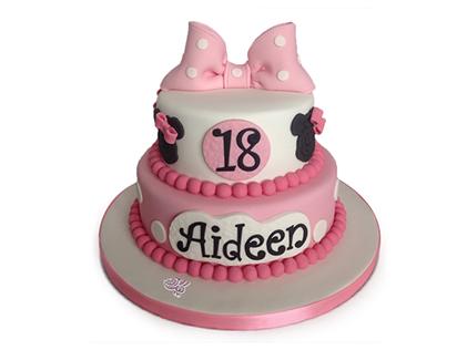 خرید آنلاین کیک در اصفهان - کیک تولد دخترانه آیدین | کیک آف