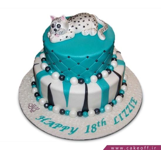 کیک  تولد پلنگ مهربون
