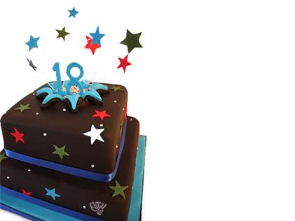 سفارش کیک تولد - کیک تولد ستاره باران | کیک آف