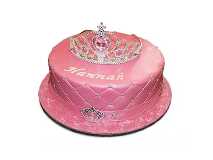 سفارش کیک تولد - کیک دخترانه تاج سیندرلا | کیک آف