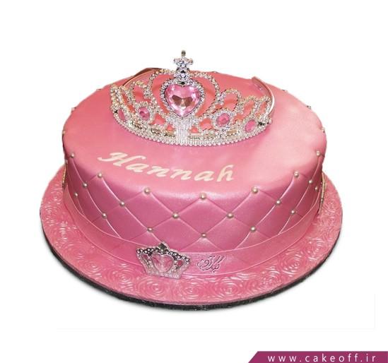 کیک دخترانه تاج سیندرلا