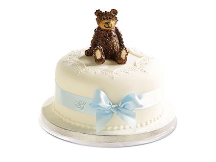 کیک تولد بچه گانه - کیک کارتونی خرس تنبل | کیک آف