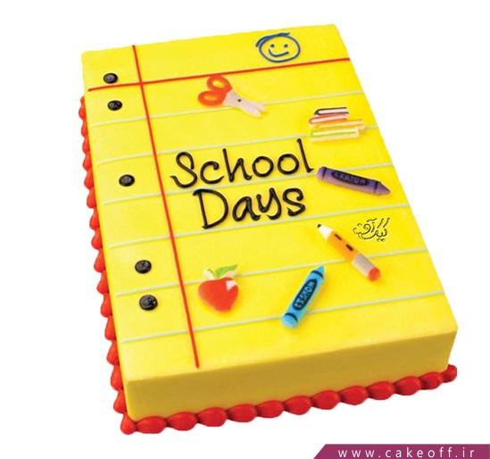 خرید کیک اینترنتی - کیک خامه ای اولین روز مدرسه | کیک آف