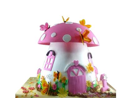 خرید کیکهای تولد زیبا - کیک تولد بچه گانه قارچی | کیک آف